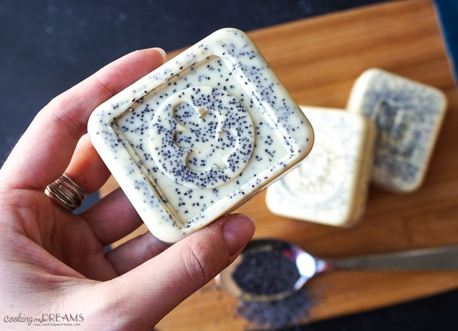 lemon poppy seed handmade soap
