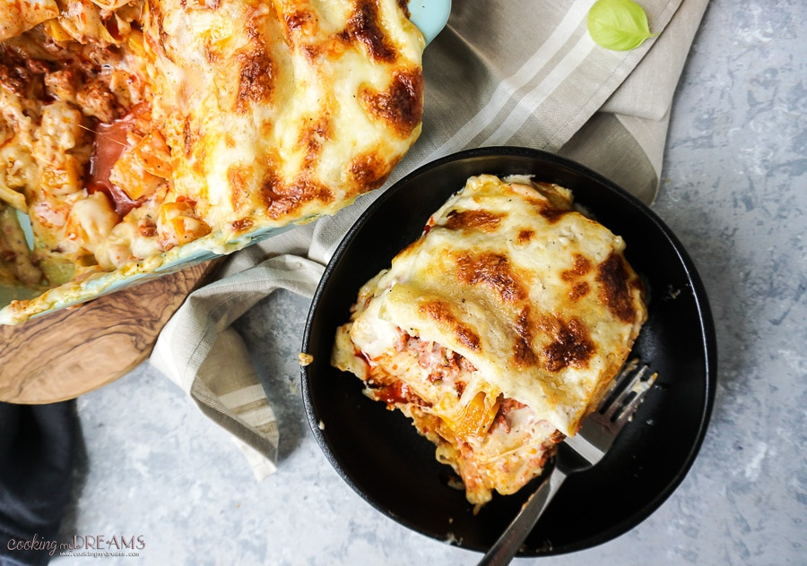 butternut squash and sausage lasagna