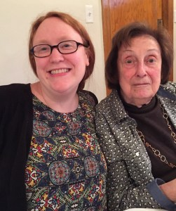 With Grandma. Not the best picture of us, but we were feeling great thanks to lots of wine and matzo ball soup!
