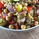 Zucchini and Couscous Salad with Zatar Vinaigrette