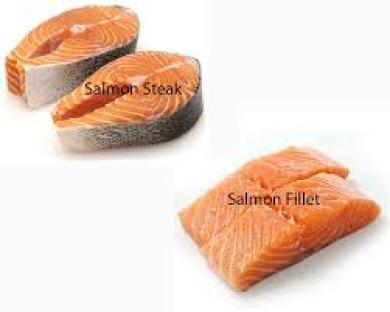 Salmon steak vs Salmon filet