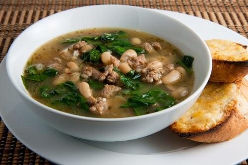 Turkey sausage soup