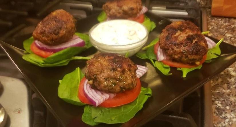 Best Greek Lamb Burgers w/Tzatziki Sauce
