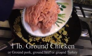 Ground Chicken for Lettuce Wraps