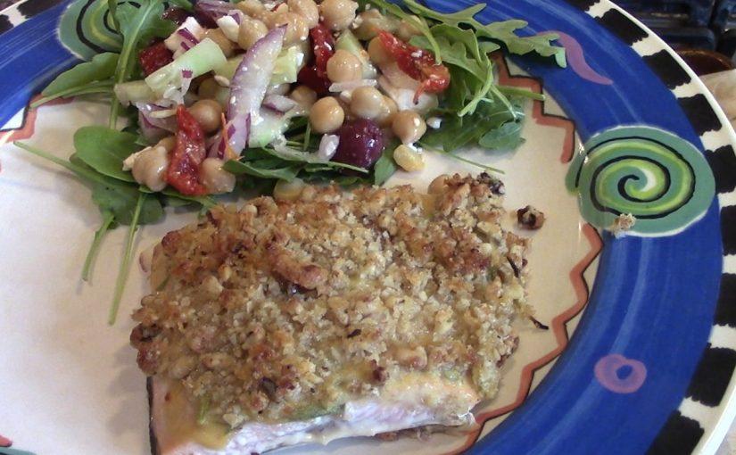 Walnut Rosemary Crusted Salmon