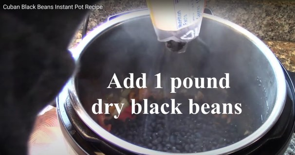 Add Black Beans to Instant Pot