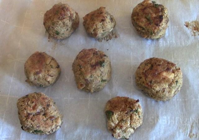 Eggplant Meatballs ready for baking