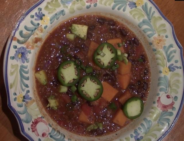 Quinoa And Sweet Potato Chili
