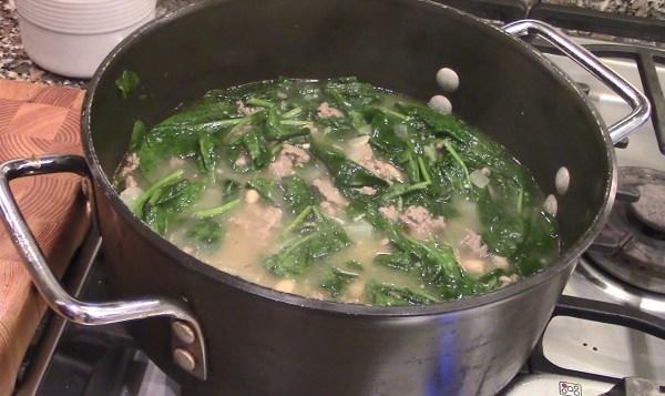 Turkey Sausage Spinach White Bean Soup