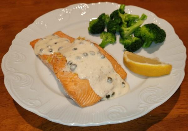 Salmon with Creamy Lemon Sauce