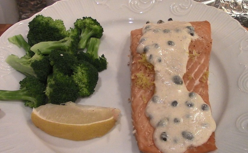 Salmon with Creamy Lemon Sauce