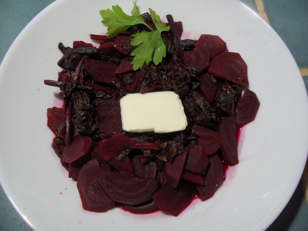 Baby Beets with Greens and Orange Juice (3/3)