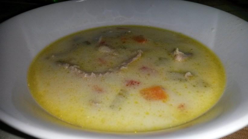 Chicken sour soup/ Ciorba Radauteana