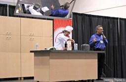 Chef Gabriel cooking Risotto con Basilico (Basil Risotto)