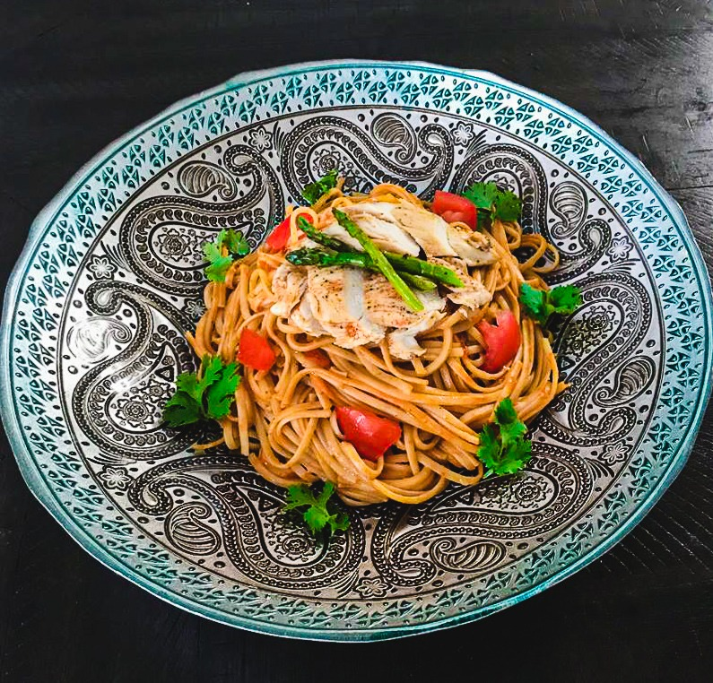 Linguini Pasta with Grilled Chicken