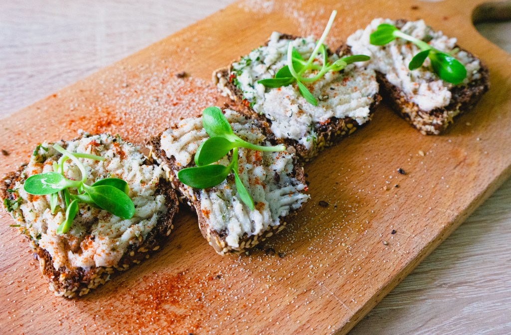 Salo on Rye Toast with herbs and spices