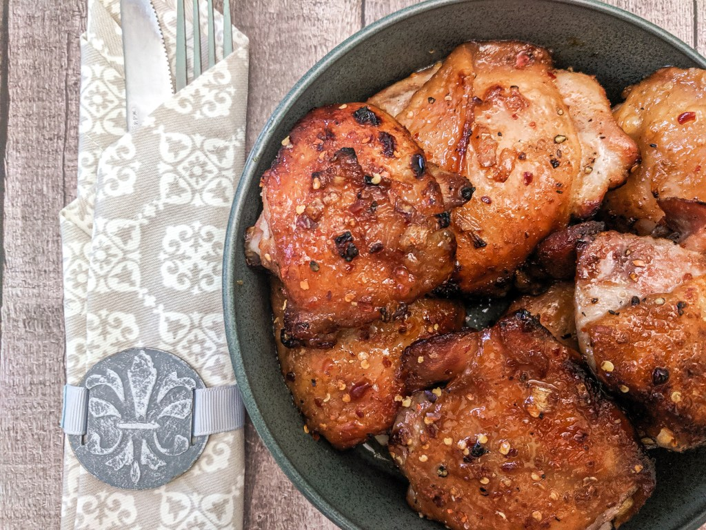 Honey Soy Baked Chicken Thighs