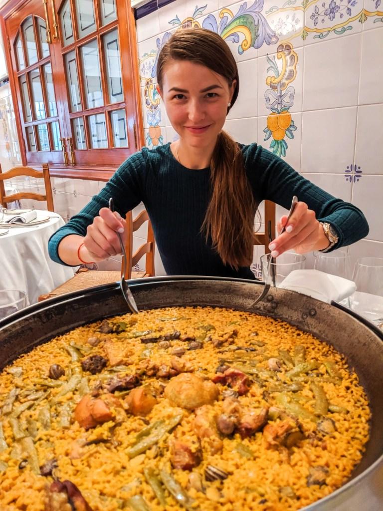 Alona Eating Paella