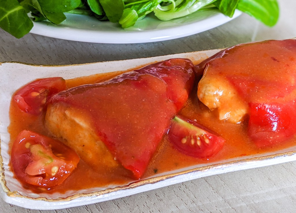 stuffed piquillo peppers with bacalao dried salted cod