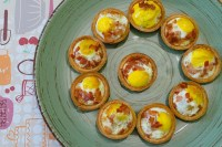 Quail Egg and Bacon Tartlets