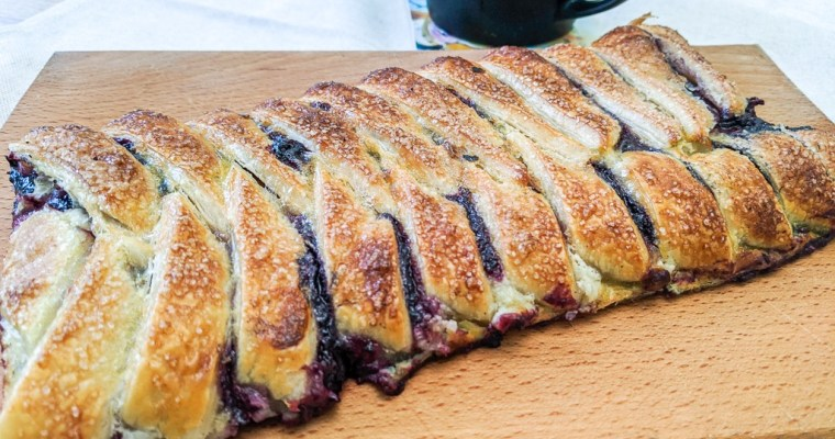 Chokeberry Danish Pastry Braid