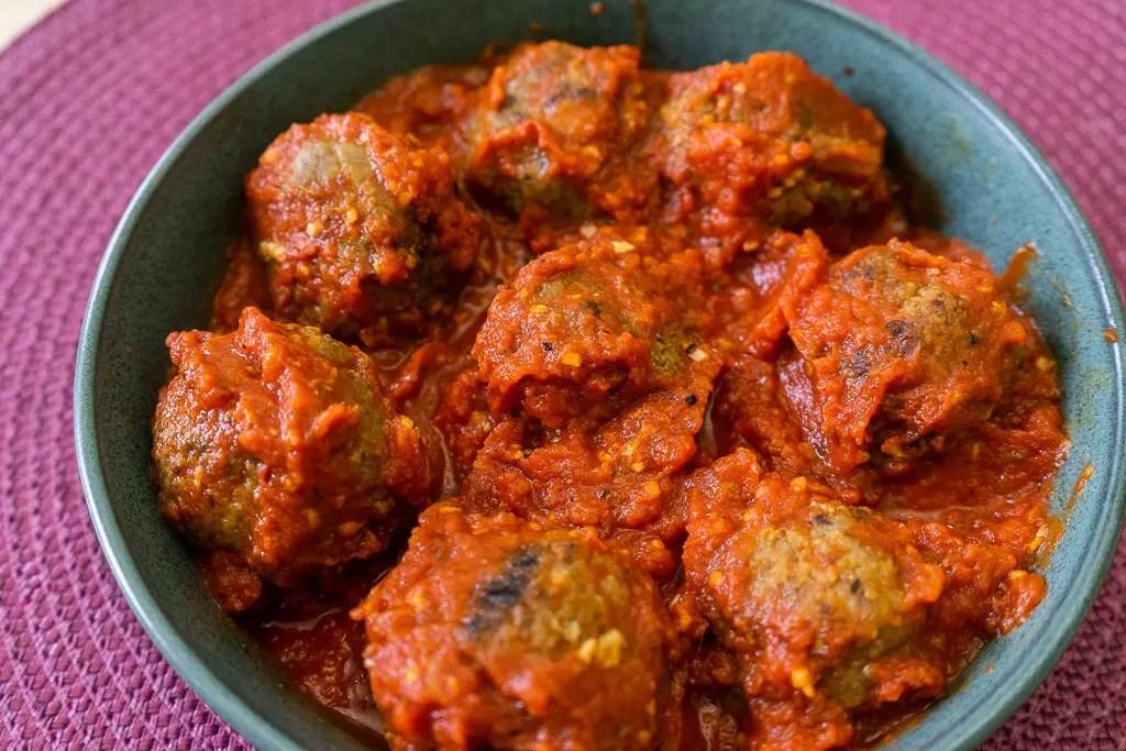 meatballs arrabbiata