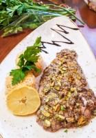sumac and pistachio crusted whitefish