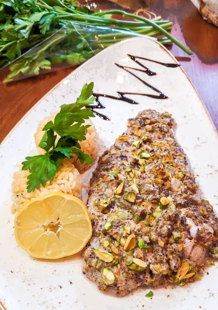 sumac and pistachio crusted whitefish recipe