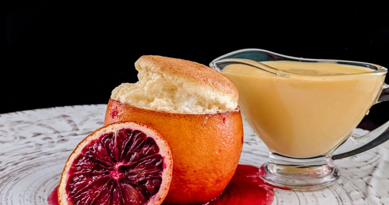 Blood Orange Cointreau Souffle