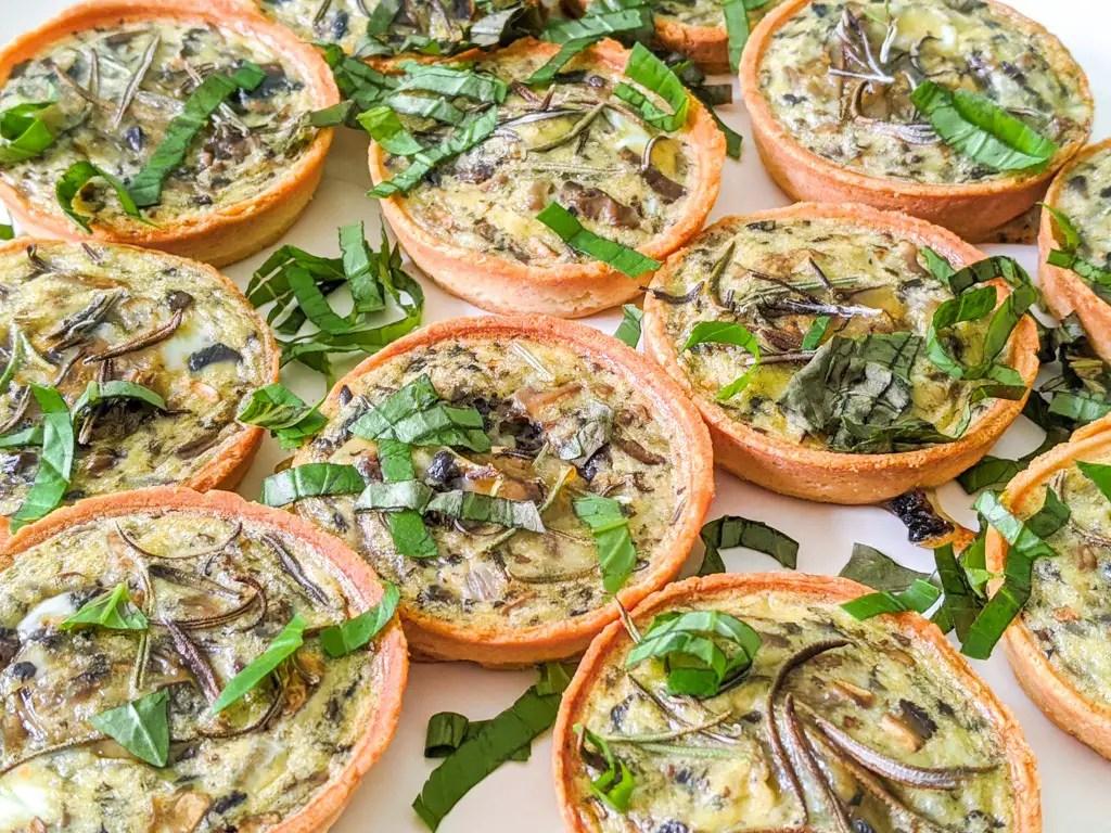 Mini Mushroom And Onion Quiche bites recipe
