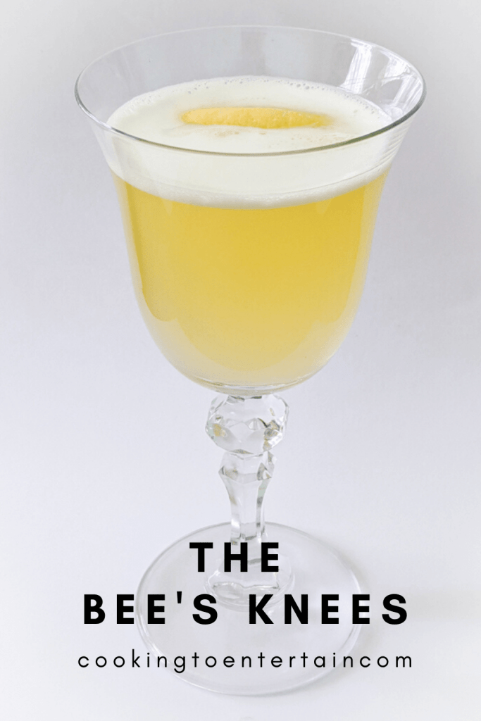 the bee's knees classic cocktail pin