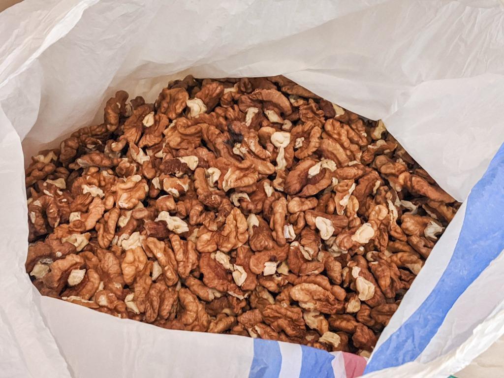 bag of walnuts