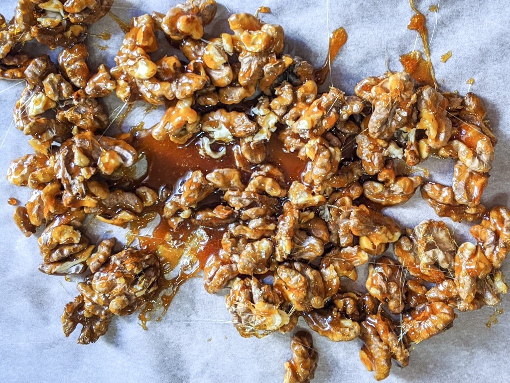 candied walnuts for the chinese walnut chicken
