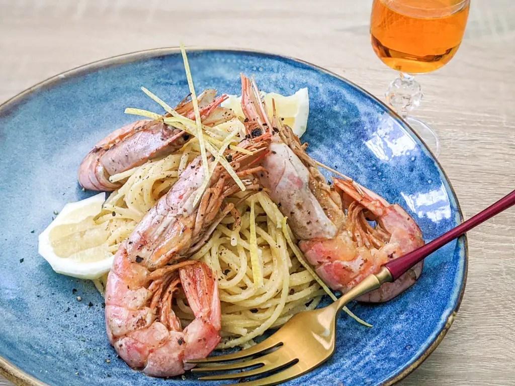 Lemon Spaghetti With Prawns