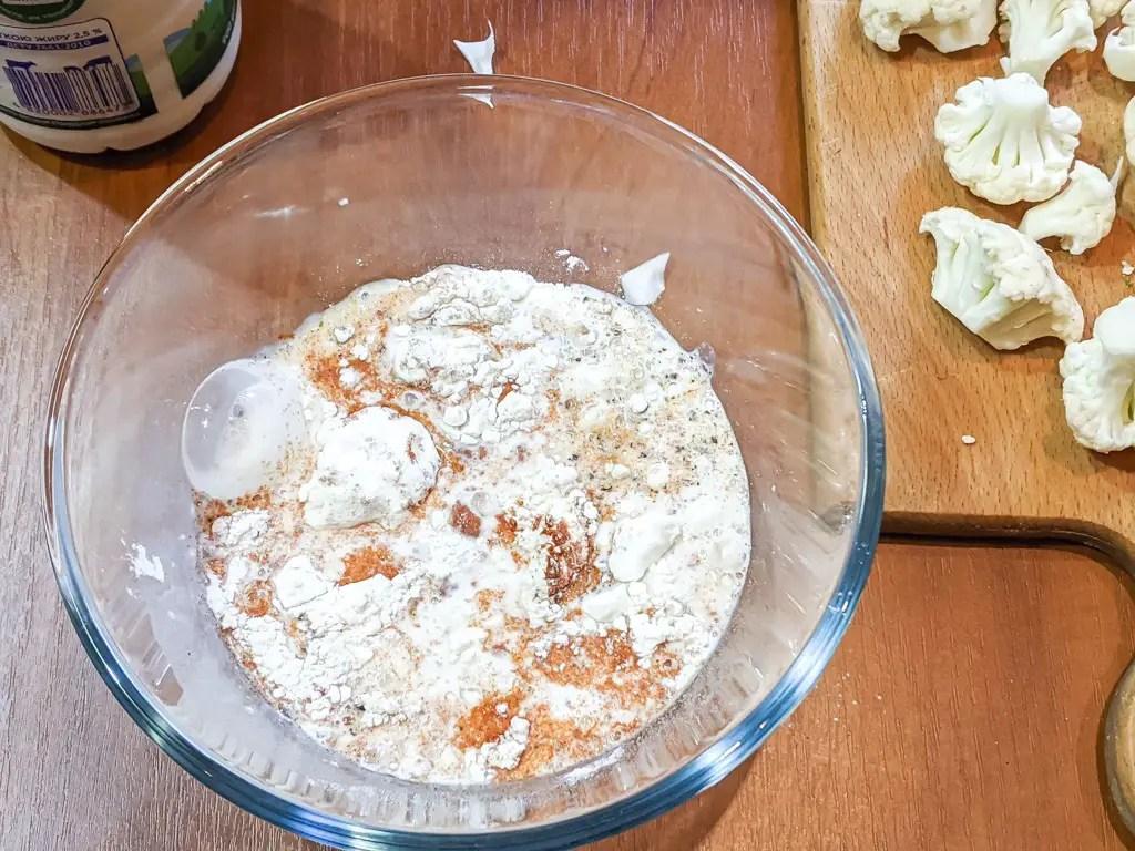 batter for the baked cauliflower
