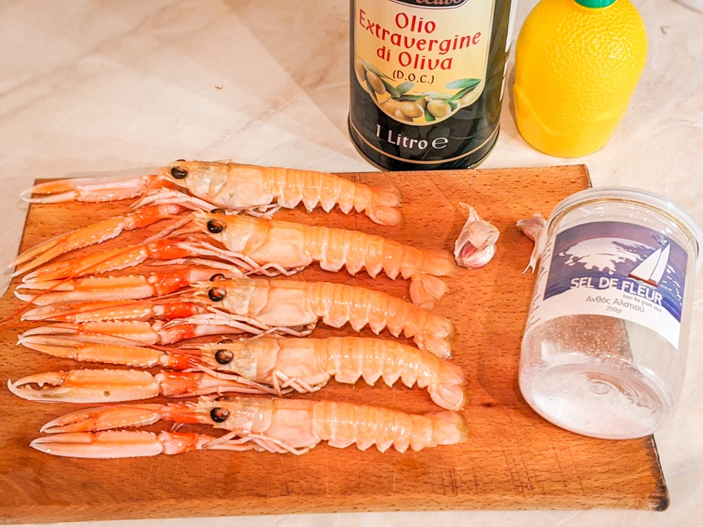grilled langoustines ingredients