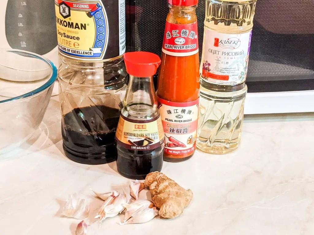 Stir Fry Chili Squid sauce ingredients
