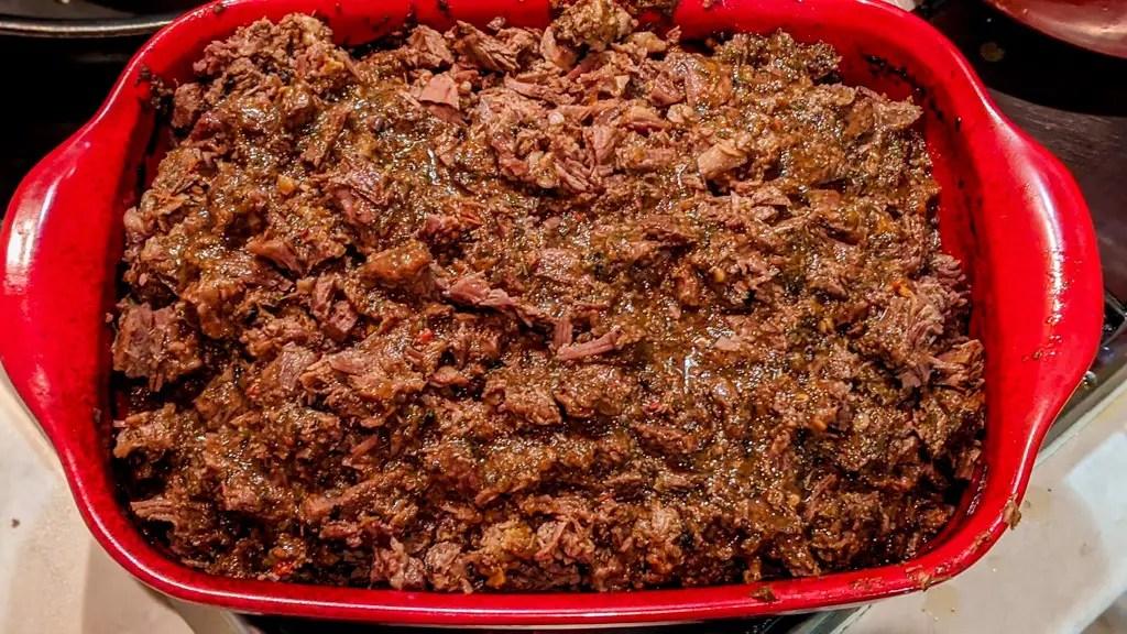 shredded beef birria