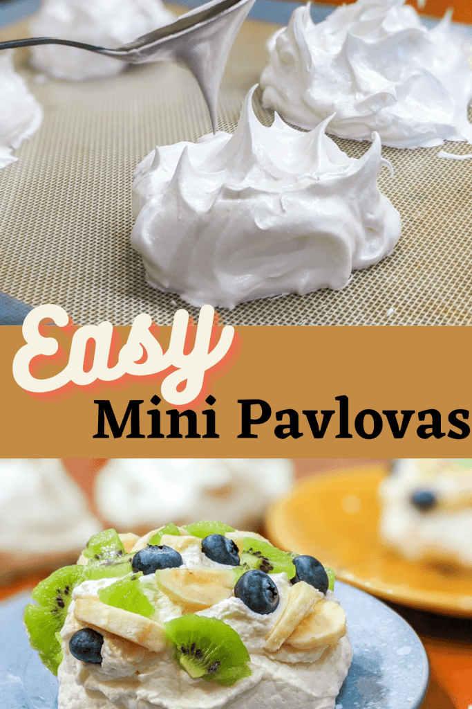 Easy Mini Pavlova pinterest pin