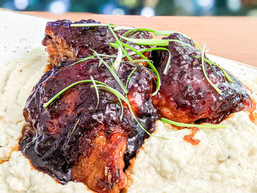 Gochujang Soy Marmalade Sticky Chicken Thighs