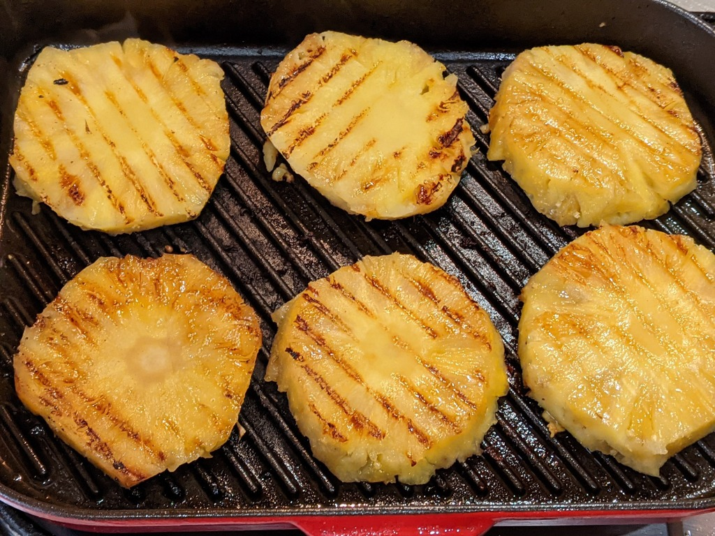grilled pineapple steaks