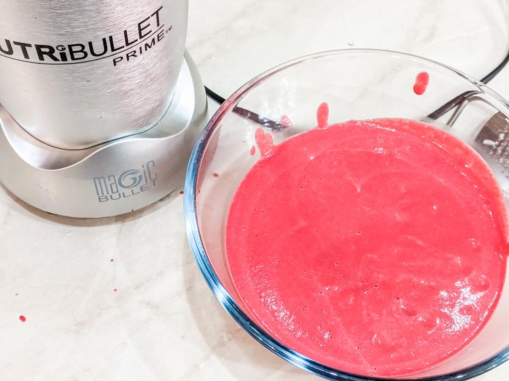 blended beetroot cream sauce