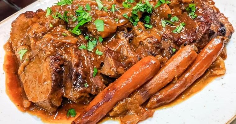 Onion Braised Beef Brisket