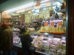 Cheeses and Cured Sausages at the Mercato dei Fiori - Ventimiglia - Italy