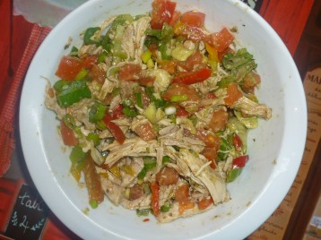 Chicken Salsa and Spices for Chimichanga by Cookingtrips
