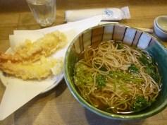 Soba noodles soup with Tempura, Kyoto