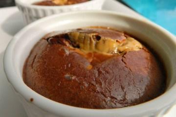 chocolate protein lava cake