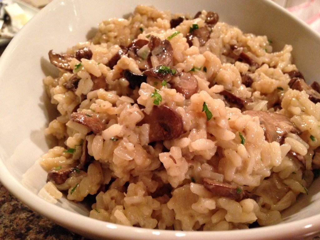 parmesan mushroom risotto