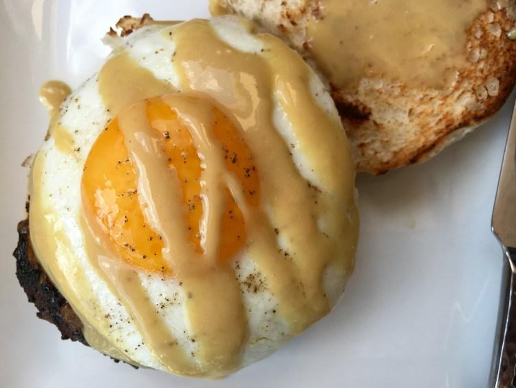Maple Dijon Breakfast Burger - Cooking Up Happiness