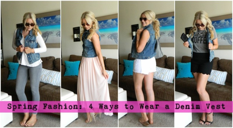 Spring Fashion: 4 Ways to Wear a Denim Vest